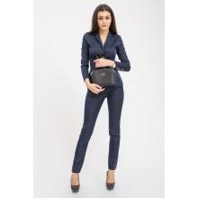 Костюм женский темно-синий, деловой, однотонные пиджак и брюки